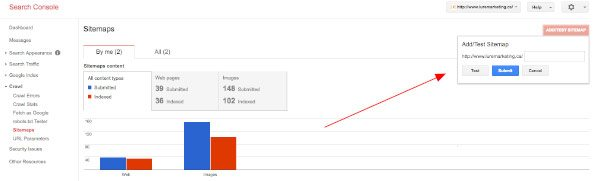 how to add a sitemap using Google Search Console