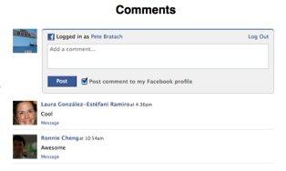 Facebook's comment plugin for websites