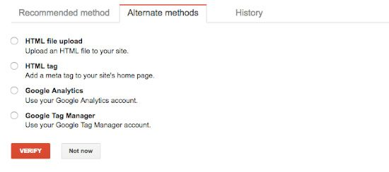 Verifying to Google that you own the website.